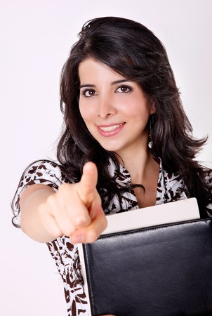 Student of university  with books over white background Stock Photo - 7549722