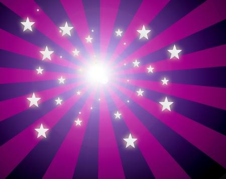 Luminous stars on purple lines dynamic background. Illustration illustration