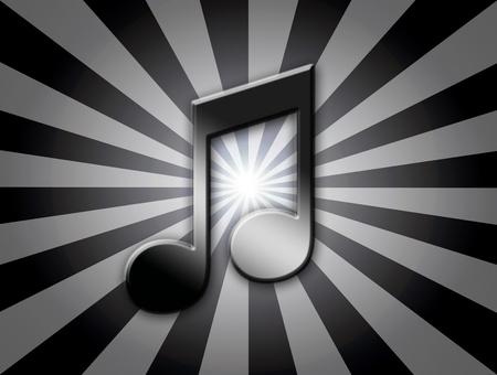 quaver: black quaver musical note over lines background