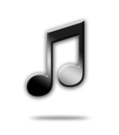 quavers: Black musical note over white background. Illustration Stock Photo