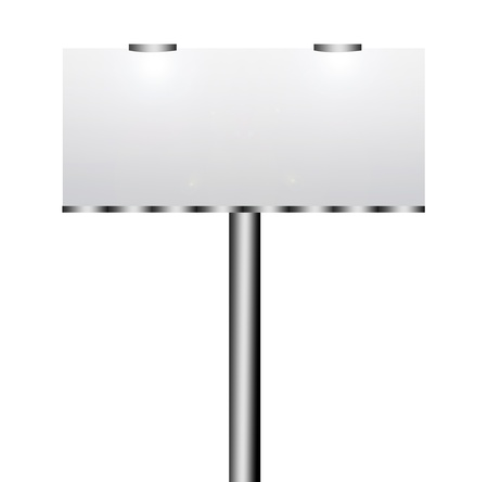 Blank street advertising billboard on white background Stock Photo - 8912412