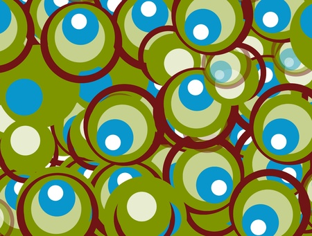 Background of green, blue and brown circles representing movement  Stock Photo - 8912470