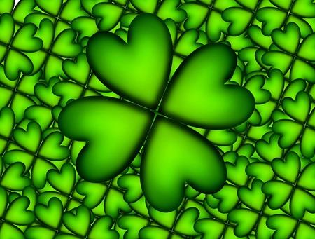 Lucky clover over over lucky clover background. Illustration Stock Illustration - 8912747