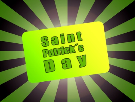 Happy saint patrick´s day over green and black background Stock Photo - 8912478