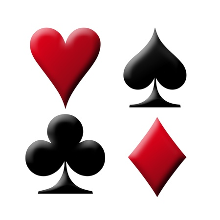 big game: Poker card with the four aces over white background