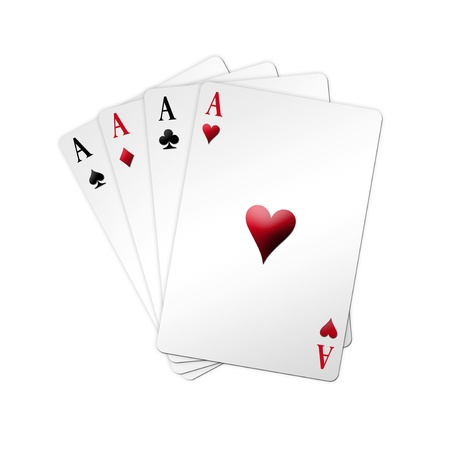 Poker game in shaped deck over white background Stock Photo - 8912424