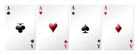 Poker card online over white background. Illustration Stock Illustration - 8912415