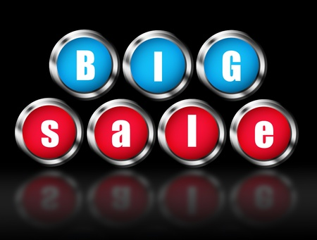 Big Sale announcement with each letter in a button. Illustration Stock Illustration - 8912870