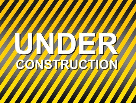 fund: Caution fund advertising under contruction. Background.Illustration