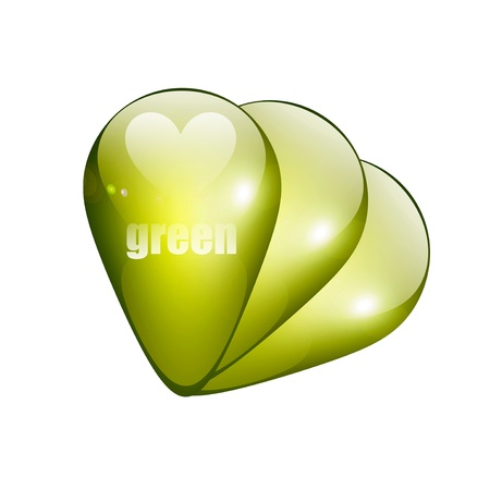 Three drops green light over white background. Illustration Stock Illustration - 8912865