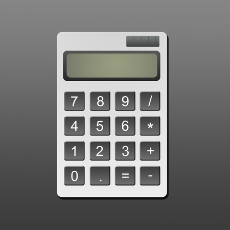 Accounting calculator over gray background. Business concept photo