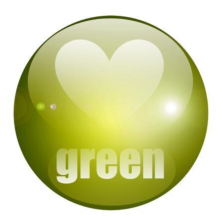 Green drops light over white background. Illustration  Stock Illustration - 9314649