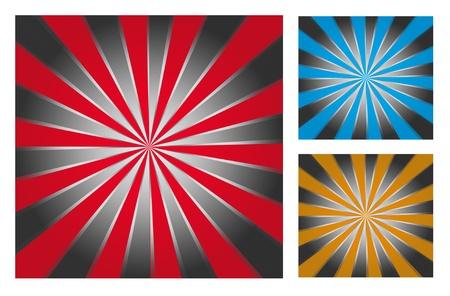 Red, blue and orange lines over chrome background, Illustration illustration