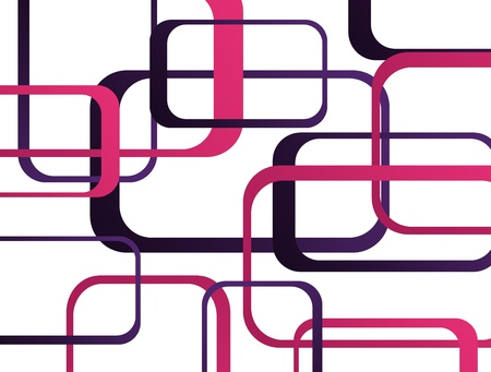 Purple and pink squares over white background Stock Photo - 9314546