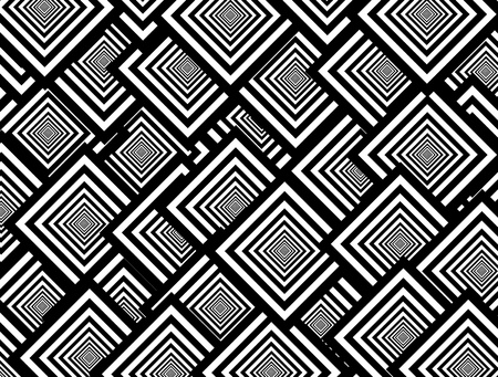 rounded squares: Black and white squares shapes, abstract Background
