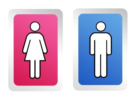 wc: Anzeichen für Männer und Frauen in blau und Rosa Quadrate. Hintergrund
