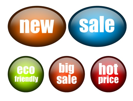 New,sale,eco friendly,big sale and hot price advertisement over white background photo