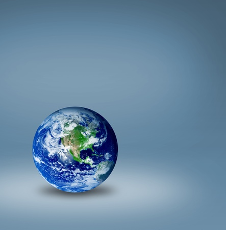 The world over blue background. Ecological and universal concept Stock Photo - 9593317