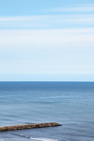 beuty sea landscape on cartagena colombia. blue image  photo