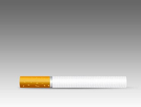brown and white cigarette over gray and white background Stock Photo - 9666991