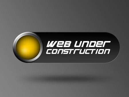 black and yellow  web template, web under construction over gray background photo