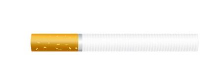 brown and white cigarette over white background.illustration Stock Illustration - 9666798