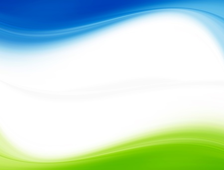 green wave: Blue and green dynamic waves. White background