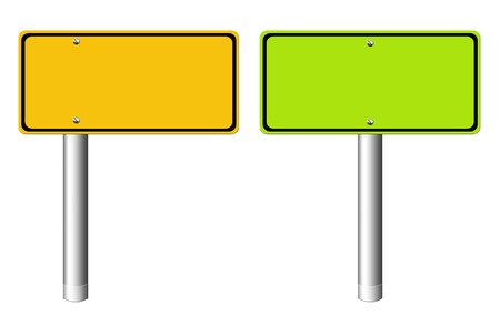green and orange rectangles  over white Background  photo