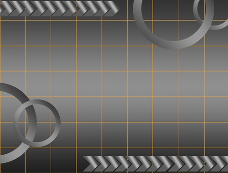 gray background  with circles  and mesh. abstract illustration illustration