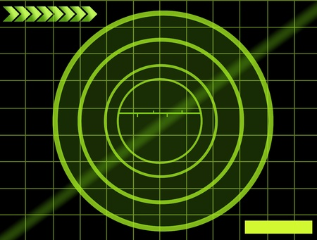 black background with green mesh. radar illustration  illustration