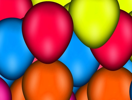 many red , blue, yellow and orange balloons Stock Photo - 9667026