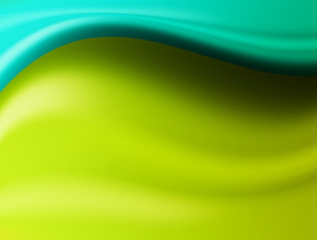 blue and green waves. abstract and plastic illustration Stock Illustration - 9666864