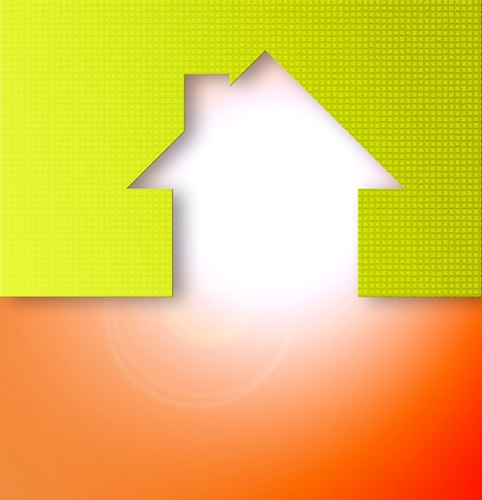 home abstract icon with color and texture photo
