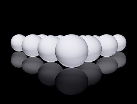 christal: group of white sphere over black background Stock Photo