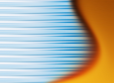 abstract background  with blue lines  and orange  wave Stock Photo - 9667304