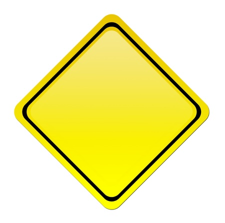 yellow signal over white background. blank illustration illustration