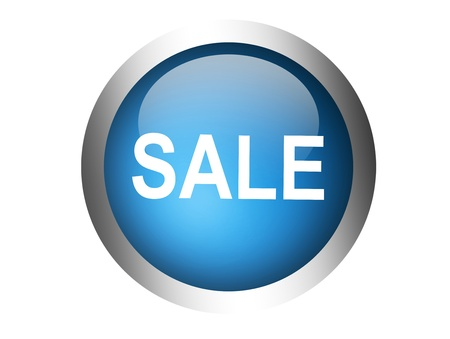 blue sale button over  white background. isolated illustration  Stock Illustration - 9667258