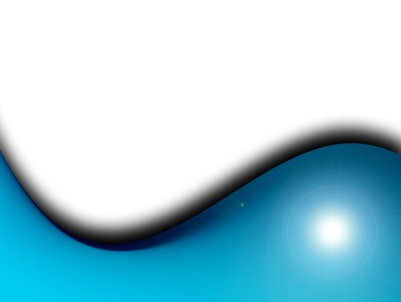 blue wave over white background. abstract illustration Stock Illustration - 9667401