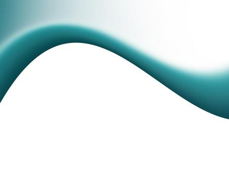 Blue dynamic wave over white background. Illustration Stock Illustration - 9666986