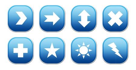 Mathematics blue icons over white background. isolated image Stock Photo - 9667097