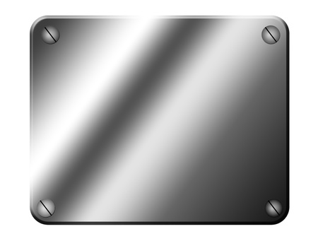 chrome  background  with four screw. blank illustration Stock Illustration - 9667104