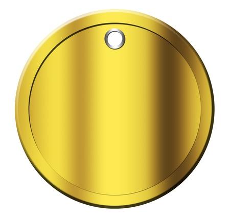 gold coin over white background. isolated illustration illustration