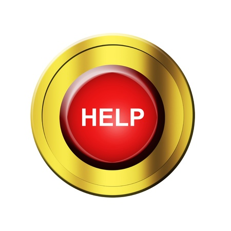 red  button  with help  advertisement. isolated illustration Stock Illustration - 9667315