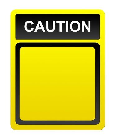 caution advertisement over white  background. blank illustration Stock Illustration - 9667309