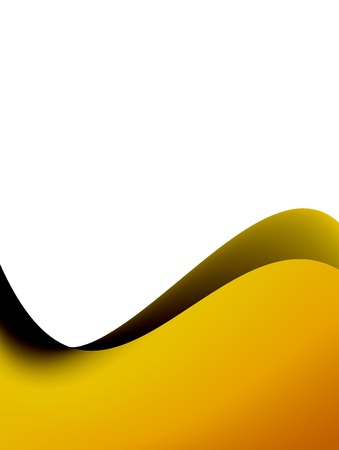Orange dynamic wave over white background. Illustration Stock Illustration - 9667095