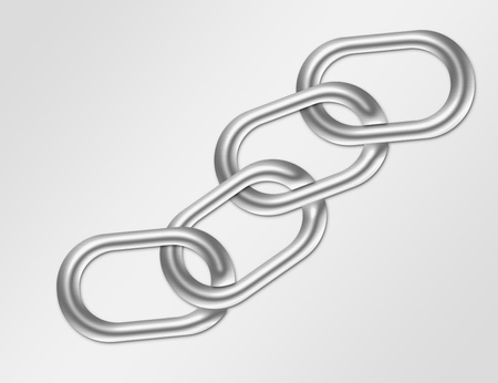 silver metal chain over gray background.illustration illustration