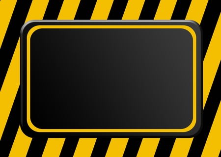 Black board over lines background. Cauttion advertisement Stock Photo - 9692919