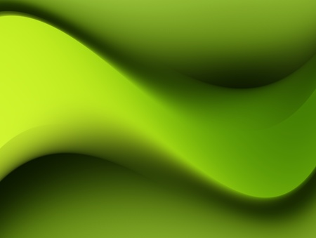 Green dynamic waves. Abstract illustration, empty to insert text or design Stock Illustration - 9692923