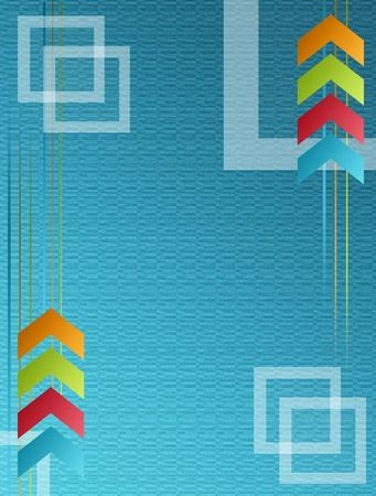 Blue dynamic background with green, red and orange arrows. business illustration illustration