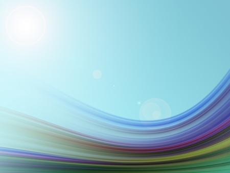 Colors waves illustration. Abstract adn dynamic shapes Stockfoto